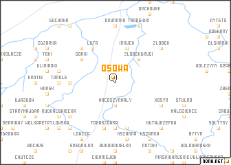 map of Osowa