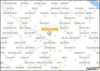 map of Ossówno