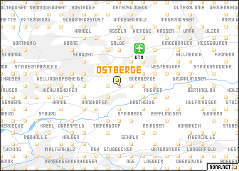 map of Ostberge