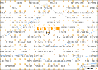 map of Ostenthann