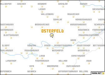 map of Osterfeld