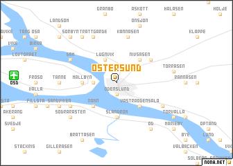 ostersund sweden map