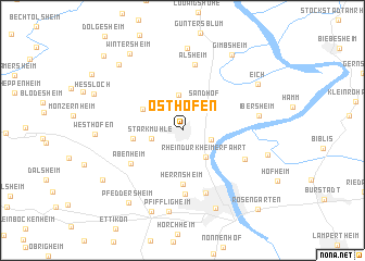 map of Osthofen