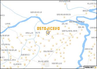map of Ostojićevo