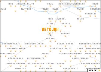 map of Ostojów