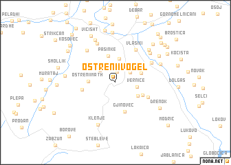 map of Ostreni i Vogël