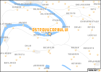 map of Ostrovu Corbului