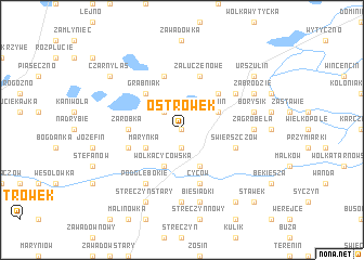 map of Ostrówek