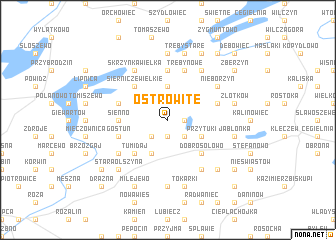 map of Ostrowite