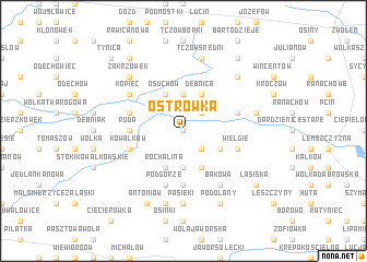 map of Ostrówka