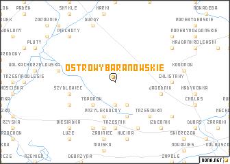 map of Ostrowy Baranowskie