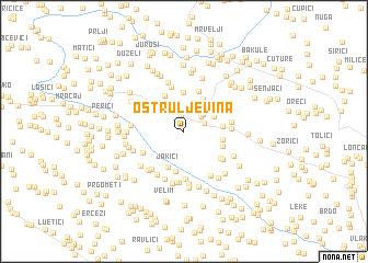 map of Oštruljevina