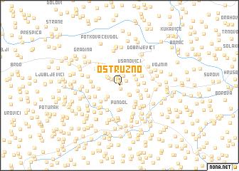 map of Ostružno