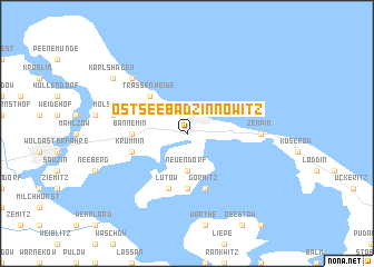 map of Ostseebad Zinnowitz