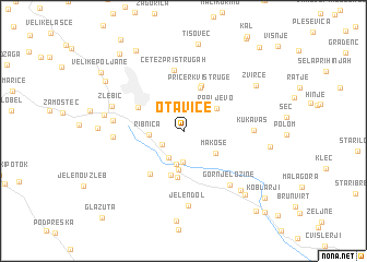 map of Otavice