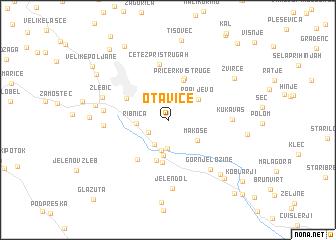 map of Otavice