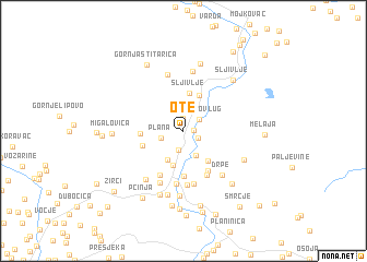 map of Ote