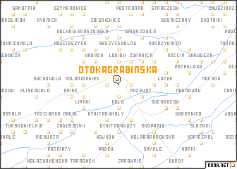map of Otoka Grabińska
