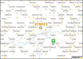 map of Otovice