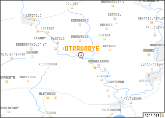map of Otradnoye