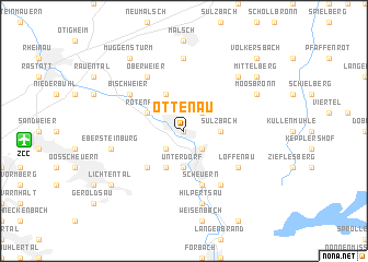 map of Ottenau