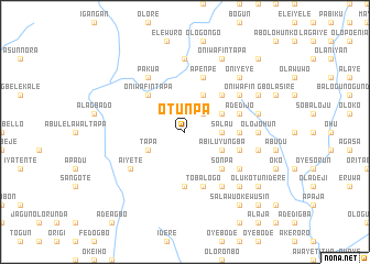 map of Otunpa