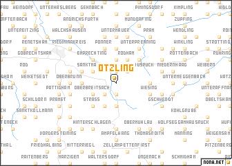 map of Ötzling
