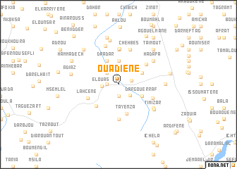 map of Ouadiene