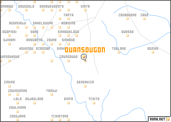 map of Ouansougon
