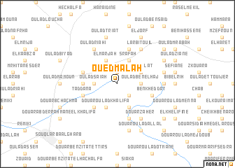 map of Oued Malah