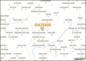 map of Ouezgana