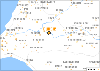 map of Ouksir