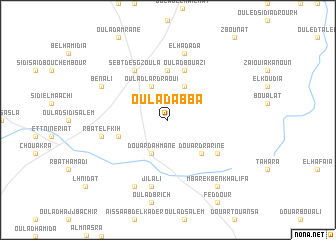 map of Oulad Abba