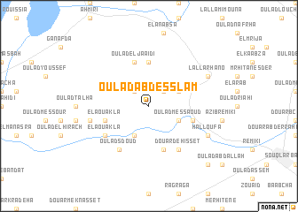 map of Oulad Abd es Slam