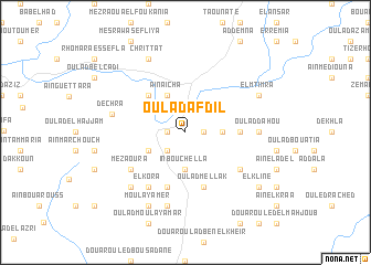 map of Oulad Afdil