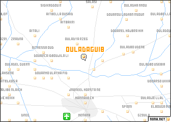 map of Oulad Aguib