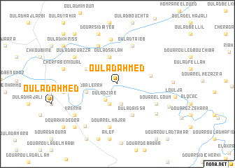 map of Oulad Ahmed