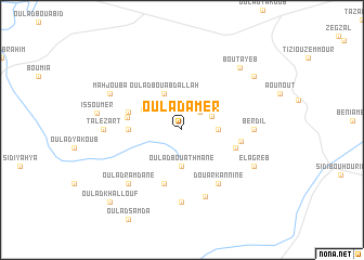 map of Oulad Amer