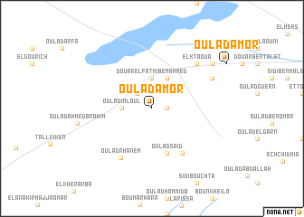 map of Oulad Amor