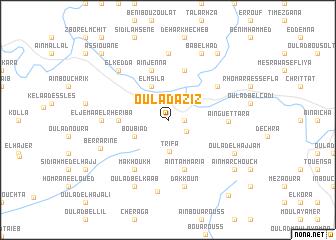 map of Oulad Aziz