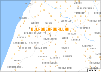 map of Oulad Ben Abdallah
