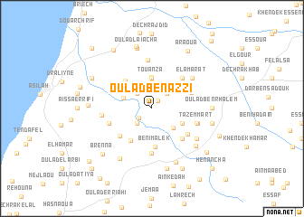 map of Oulad Ben Azzi