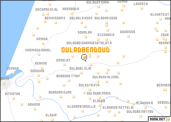 map of Oulad Ben Doud