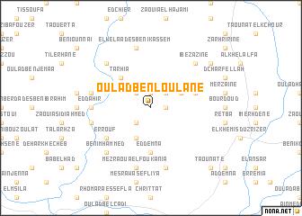map of Oulad Ben Loulane