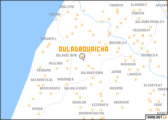 map of Oulad Bou Aïcha