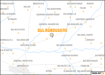 map of Oulad Boudene