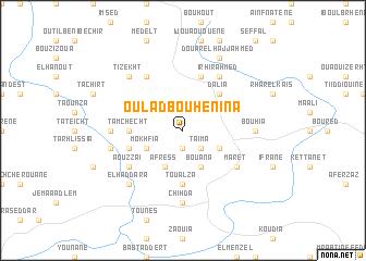map of Oulad Bou Henina