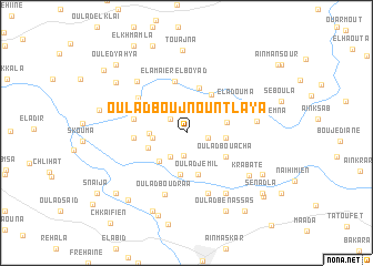 map of Oulad Boujnoun Tlaya