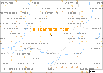 map of Oulad Bou Soltane
