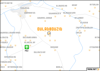 map of Oulad Bouzid